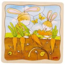 Vícevrstvé puzzle zajíc