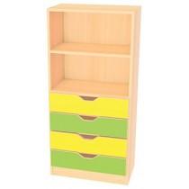 Skříňka MULTI - žlutá/zelená