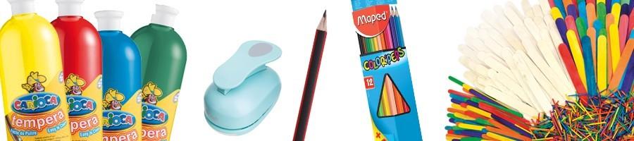 Barvičky, pastelky, fixy, křídy, plastelíny